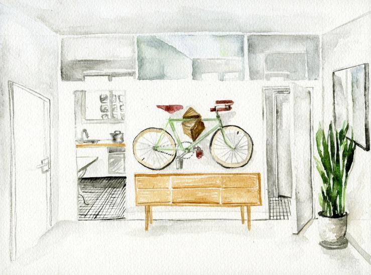 Jessie Kanelos Weiner-thefrancofly.com-bike chez moi