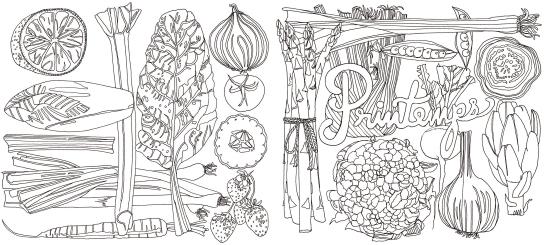 Recettes du jardin a colorier et a cuisiner, Editions Mango