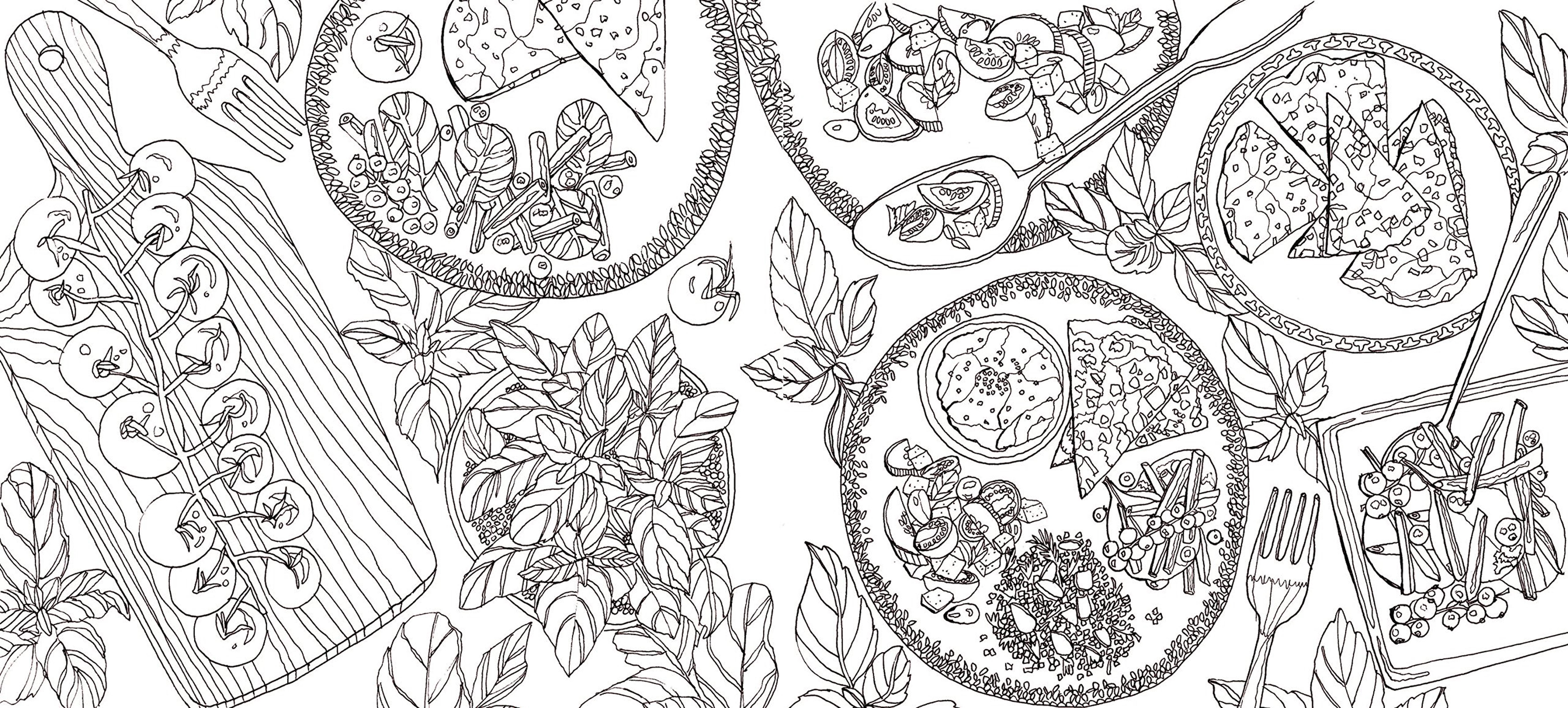 recettes du jardin a colorier et a cuisiner