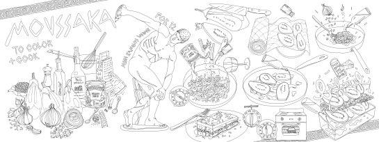 Jessie Kanelos Weiner_Moussaka_They draw and cook 2